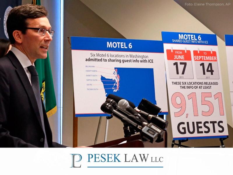 Abogado de Casos de Inmigración; motel da información a ICE | Pesek Law
