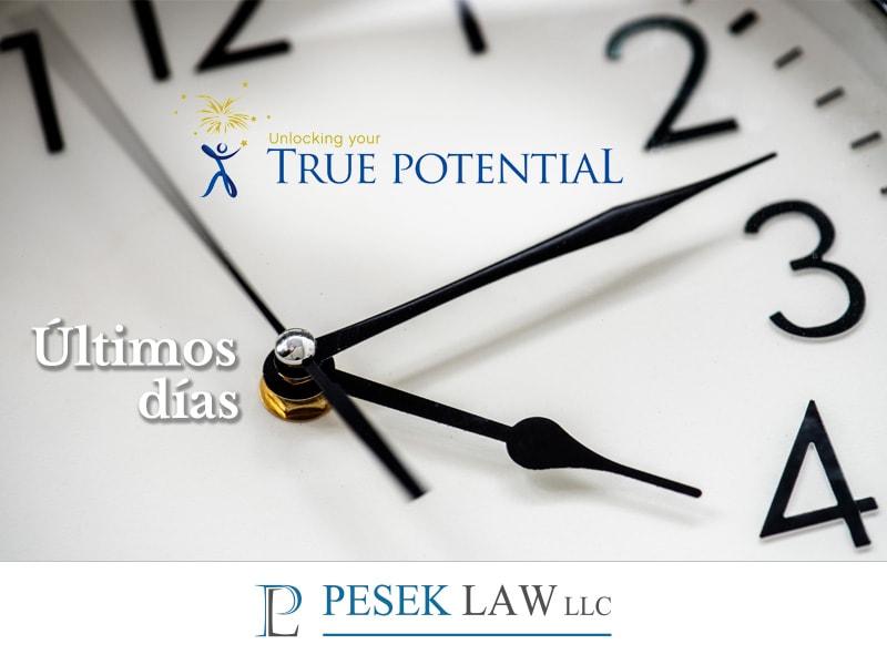 ¡True Potential, aún estás a tiempo! - Beca para inmigrantes | Pesek Law - blog