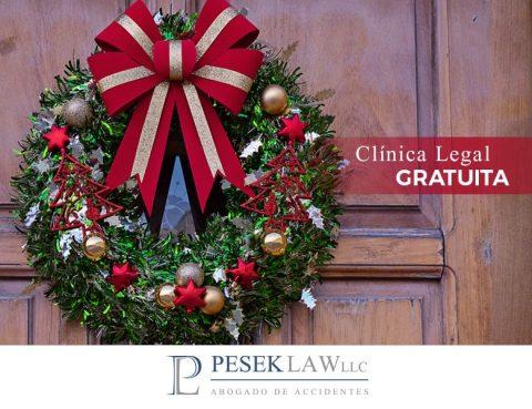 ¿La clínica legal gratuita dará servicio durante festividades?