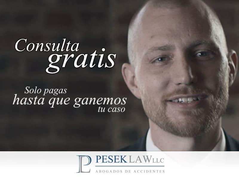 En Pesek Law nuestras consultas son gratis y no pagas nada hasta que ganamos tu caso
