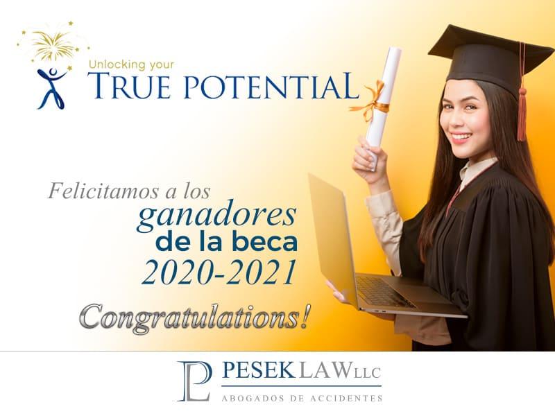 Felicitaciones a todos los ganadores de la beca true potential 2020-2021