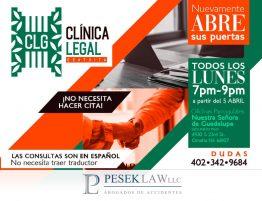 Clínica Legal Gratuita de Pesek Law Reanuda sus Actividades